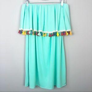 Judith March | Strapless Tassel Dress